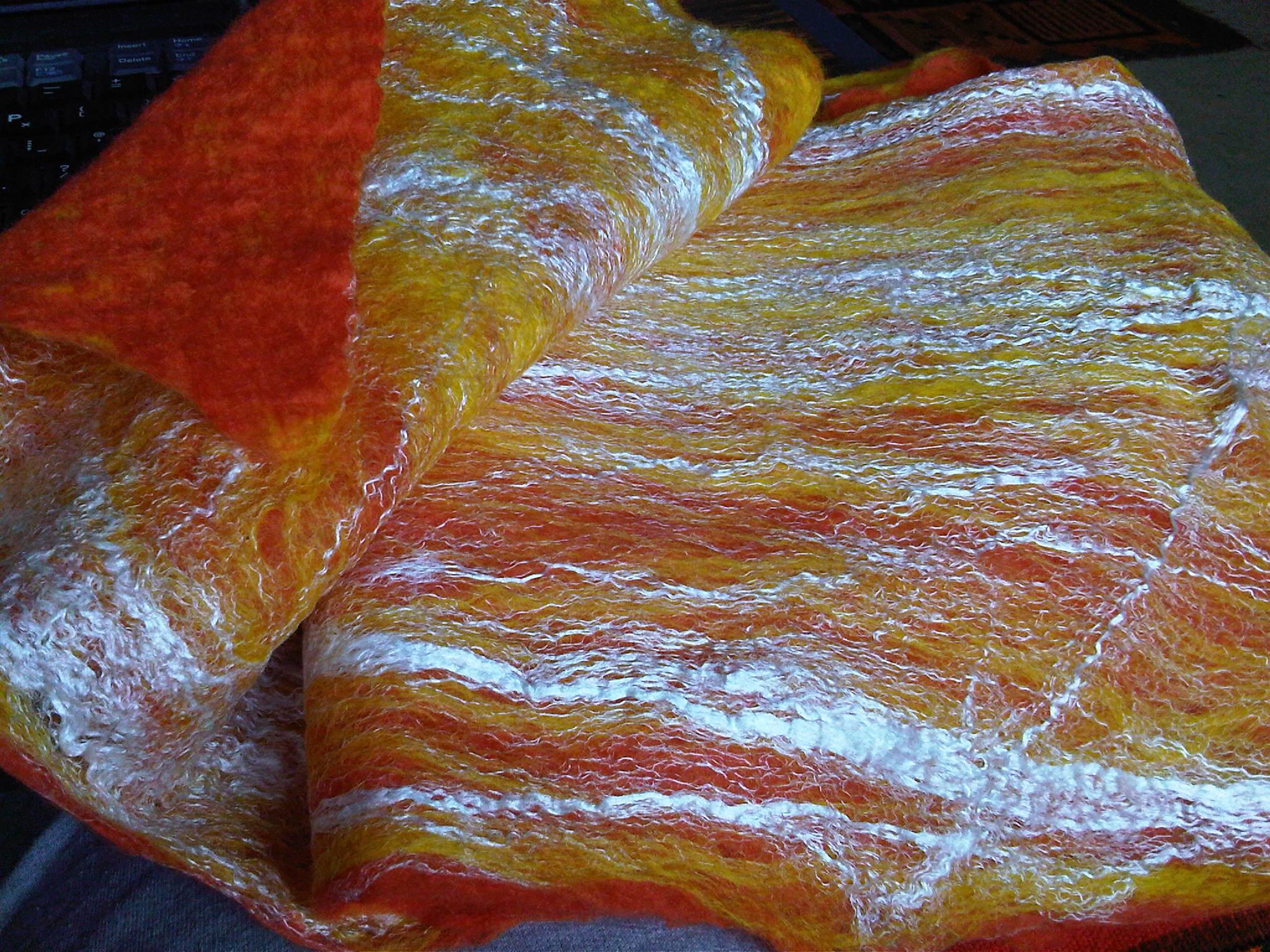 scarf - orange/gold/silk