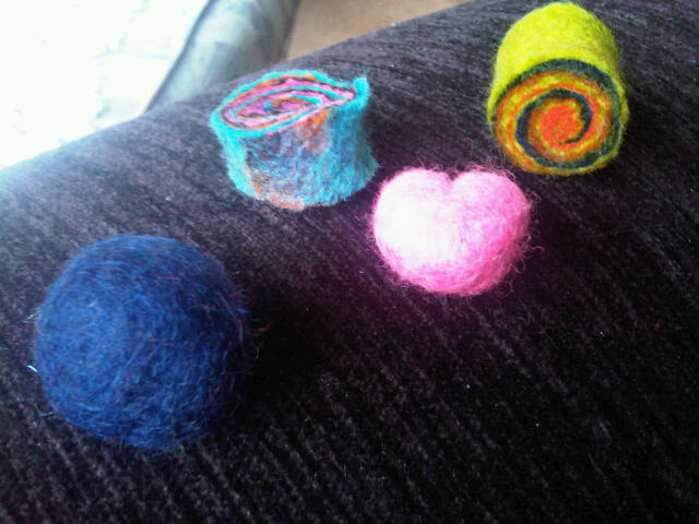 felt beads - examples for jewellery orders